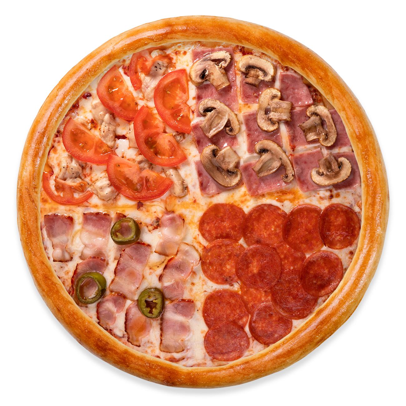 Пицца 4 вкуса стандарт