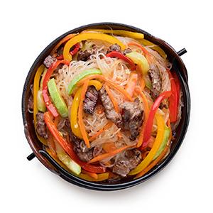 Фунчоза с говядиной